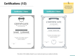 Plumbing Sanitary Works Certifications Ppt Infographic Template Backgrounds PDF