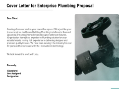 Plumbing Sanitary Works Cover Letter For Enterprise Plumbing Proposal Themes PDF