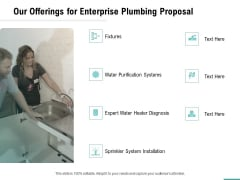 Plumbing Sanitary Works Our Offerings For Enterprise Plumbing Proposal Guidelines PDF