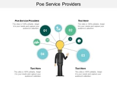 Poe Service Providers Ppt Powerpoint Presentation Infographic Template Background Image Cpb
