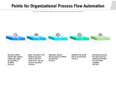 Points For Organizational Process Flow Automation Ppt PowerPoint Presentation Inspiration Images PDF