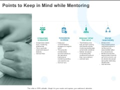 Points To Keep In Mind While Mentoring Ppt PowerPoint Presentation Icon Picture