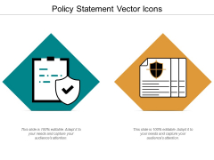 Policy Statement Vector Icons Ppt Powerpoint Presentation Professional Images