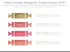 Political Campaign Management Template Example Of Ppt