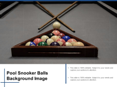 Pool Snooker Balls Background Image Ppt PowerPoint Presentation Model Examples Cpb