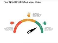 Poor Good Great Rating Meter Vector Ppt PowerPoint Presentation Show Slide Download