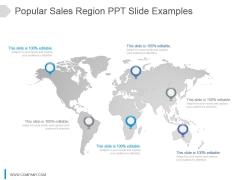 Popular Sales Region Ppt Slide Examples