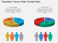 Population Census Male Female Ratio Powerpoint Template