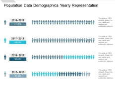 Population Data Demographics Yearly Representation Ppt PowerPoint Presentation Ideas Layout