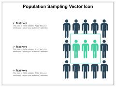 Population Sampling Vector Icon Ppt PowerPoint Presentation Gallery Slide PDF