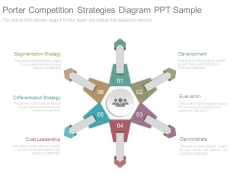 Porter Competition Strategies Diagram Ppt Sample