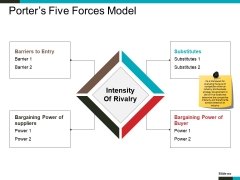 Porter S Five Forces Model Ppt PowerPoint Presentation Summary Show