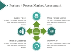 Porters 5 Forces Market Assessment Template 2 Ppt PowerPoint Presentation Images