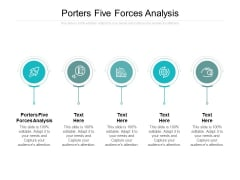 Porters Five Forces Analysis Ppt PowerPoint Presentation Inspiration Deck Cpb
