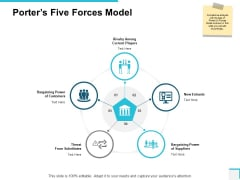 Porters Five Forces Model Ppt PowerPoint Presentation File Designs Download