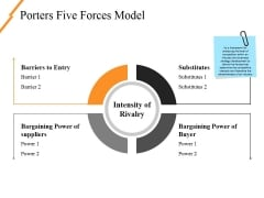 Porters Five Forces Model Ppt PowerPoint Presentation Ideas Outfit