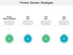Porters Generic Strategies Ppt PowerPoint Presentation Inspiration Graphics Cpb