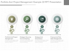Portfolio And Project Management Example Of Ppt Presentation