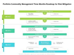 Portfolio Commodity Management Three Months Roadmap For Risk Mitigation Mockup