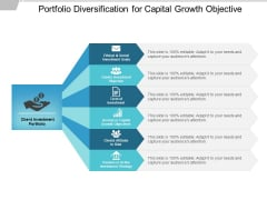 Portfolio Diversification For Capital Growth Objective Ppt PowerPoint Presentation Show Information