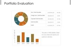 Portfolio Evaluation Ppt PowerPoint Presentation Topics