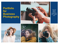 Portfolio For Business Photography Ppt PowerPoint Presentation Infographics Layout