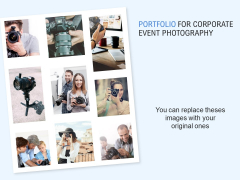 Portfolio For Corporate Event Photography Ppt PowerPoint Presentation Infographics Templates