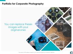 Portfolio For Corporate Photography Planning Ppt PowerPoint Presentation Inspiration Slide Portrait