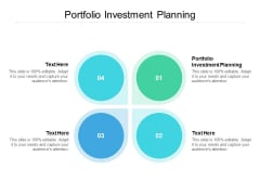 Portfolio Investment Planning Ppt PowerPoint Presentation Layouts Microsoft Cpb