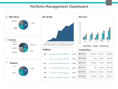 Portfolio Management Dashboard Ppt PowerPoint Presentation Gallery Example Introduction
