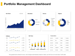 Portfolio Management Dashboard Ppt PowerPoint Presentation Ideas Portfolio