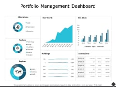 Portfolio Management Dashboard Ppt PowerPoint Presentation Outline Aids