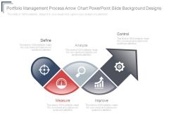 Portfolio Management Process Arrow Chart Powerpoint Slide Background Designs