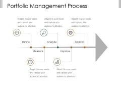 Portfolio Management Process Ppt PowerPoint Presentation Backgrounds