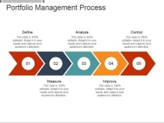 Portfolio Management Process Ppt PowerPoint Presentation Icon