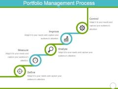 Portfolio Management Process Ppt PowerPoint Presentation Portfolio Graphic Tips