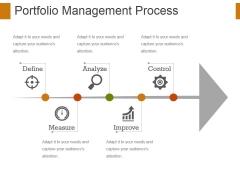 Portfolio Management Process Ppt PowerPoint Presentation Show Designs