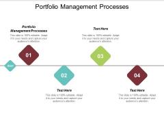 Portfolio Management Processes Ppt PowerPoint Presentation Ideas Mockup Cpb