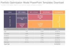 Portfolio Optimization Model Powerpoint Templates Download