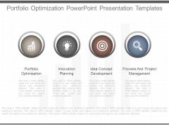 Portfolio Optimization Powerpoint Presentation Templates