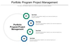 Portfolio Program Project Management Ppt PowerPoint Presentation Styles Graphics Cpb Pdf