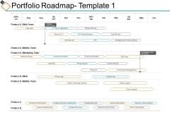 Portfolio Roadmap Mobile Team Ppt PowerPoint Presentation Ideas Visuals