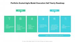 Portfolio Scaled Agile Model Execution Half Yearly Roadmap Formats