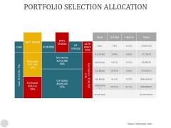 Portfolio Selection Allocation Ppt PowerPoint Presentation Professional