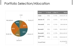 Portfolio Selection Allocation Template 1 Ppt PowerPoint Presentation Rules