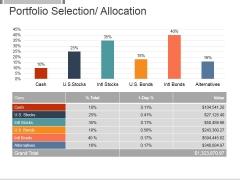 Portfolio Selection Allocation Template 1 Ppt PowerPoint Presentation Themes