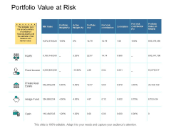 Portfolio Value At Risk Income Ppt PowerPoint Presentation Ideas Structure