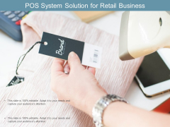 Pos System Solution For Retail Business Ppt PowerPoint Presentation Infographics Mockup