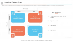 Positioning Store Brands Market Selection Strategy Ppt Styles Graphics Example PDF