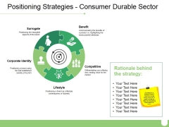 Positioning Strategies Consumer Durable Sector Ppt PowerPoint Presentation Icon Example